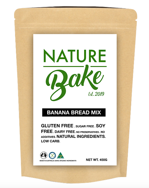 Gluten, Sugar, Dairy & Soy Free Banana Bread