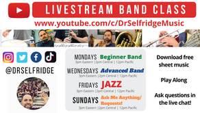 Stuck at Home? Join our free LIVE STREAM Band Classes!