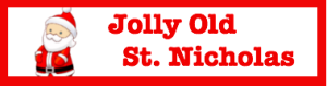 Jolly St Nick button