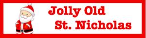 Jolly St Nick button