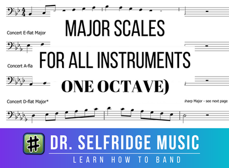 Free Download: One Octave Major Scales – All Instruments