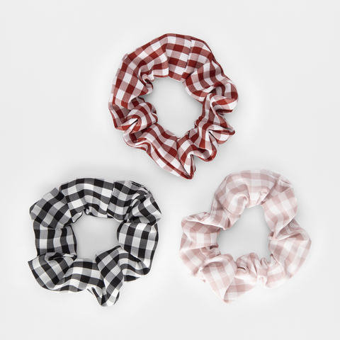 3 Pack Gingham Scrunchies