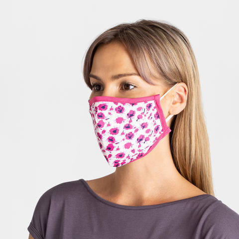 3 Layer Adult Face Mask - Floral