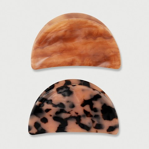 2 Pack Clam Shaped Claw Hair Clips