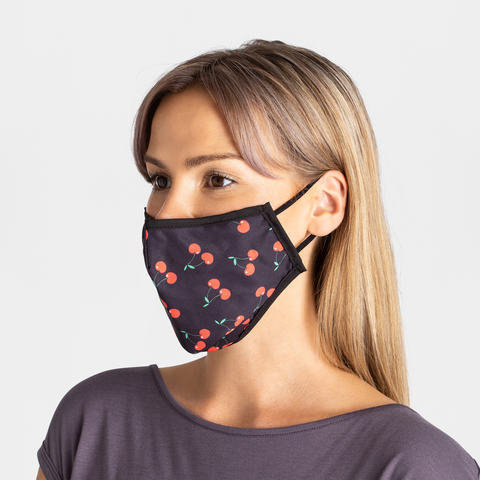 3 Layer Adult Face Mask - Cherry