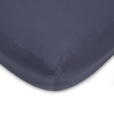 225 Thread Count Fitted Sheet - Double Bed, Denim