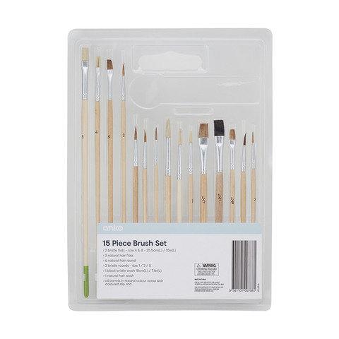 15-Piece Value Brush Set