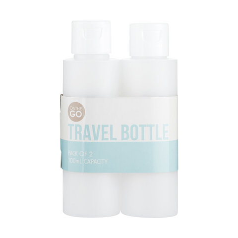 2 Pack 100ml Squeezy Tube Travel Bottles