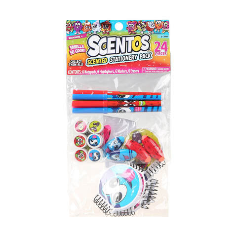 24 Piece Scentos Scented Stationery Pack