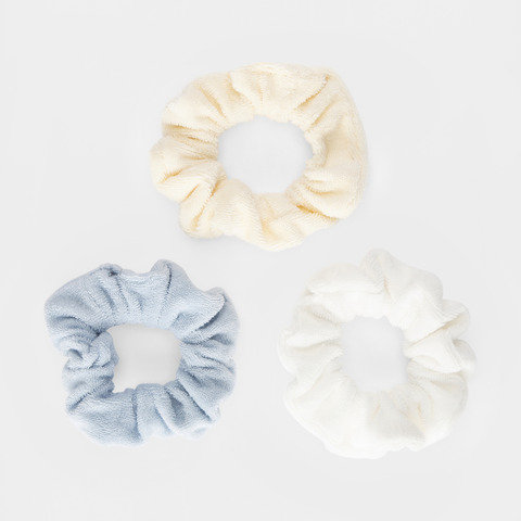 3 Pack Towelling Hair Scrunchies