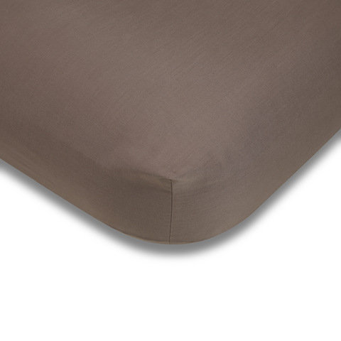 180 Thread Count Fitted Sheet - Double Bed, Mocha