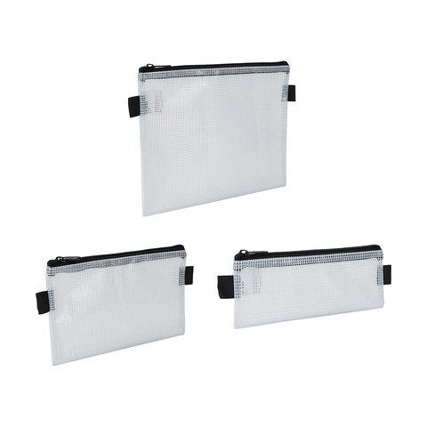 3 Pack Mesh Pencil Case