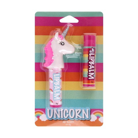 2 Pack Unicorn Lip Balm with Finger Puppet
