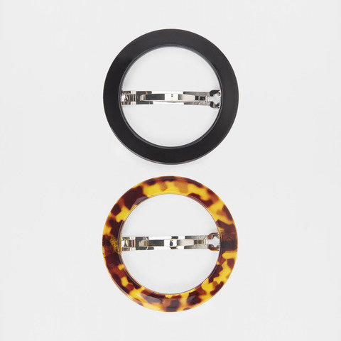 2 Pack Round Hair Clips