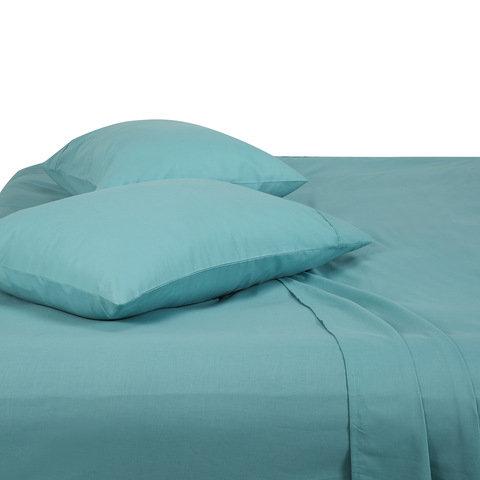 180 Thread Count Sheet Set - Double Bed, Aqua