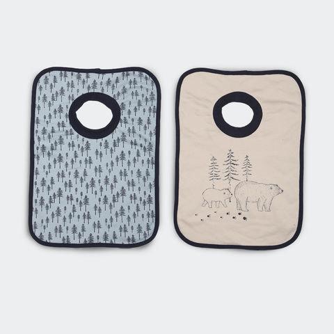 2 Pack Popover Bibs - Woodlands