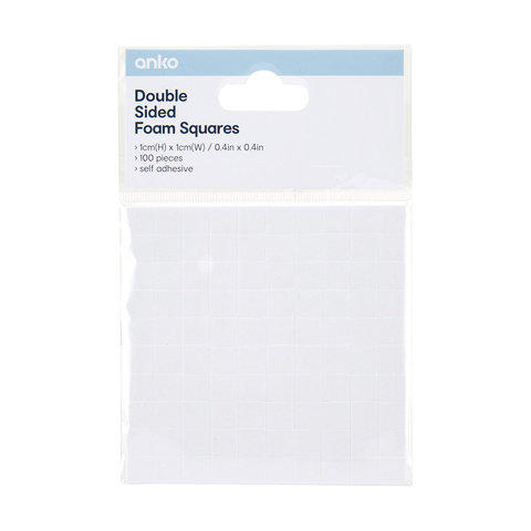 100 Pack Double Sided Foam Squares
