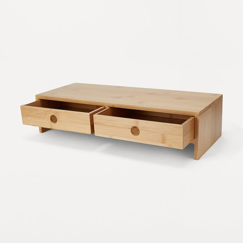 2 Bamboo Desk Top Drawers