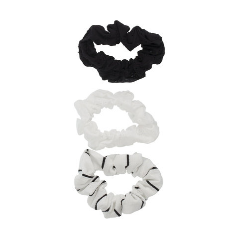 3 Pack Scrunchies - Black & White