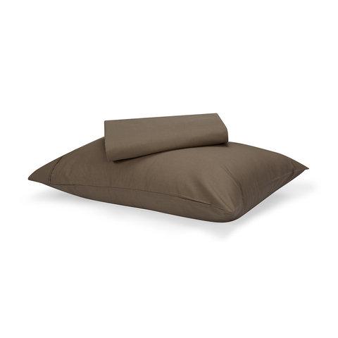180 Thread Count Sheet Set - Single Bed, Mocha