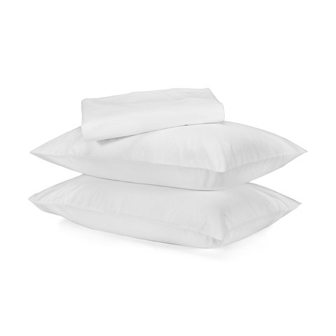 250 Thread Count Organic Cotton Sheet Set - Double Bed, White