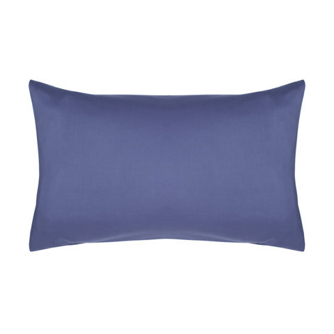 180 Thread Count Set of 2 Standard Pillowcases - Mid Blue