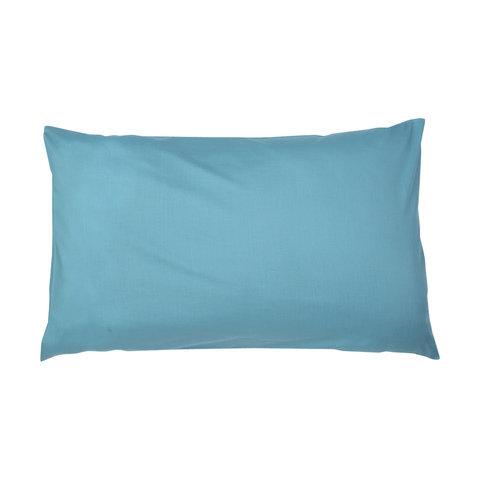 180 Thread Count Standard Pillowcases - Aqua, Set of 2