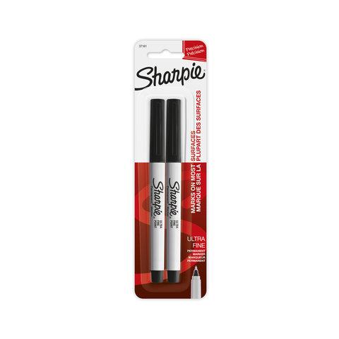 2 Pack Sharpie Ultra Fine Permanent Marker - Black