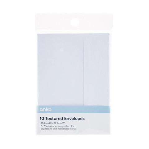 10 Pack Textured Envelopes
