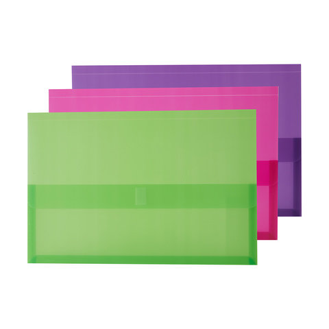 3 Pack Foolscap Fastener Document Wallets