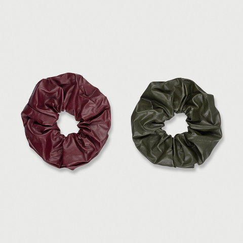 2 Pack Hair Scrunchies - Purple