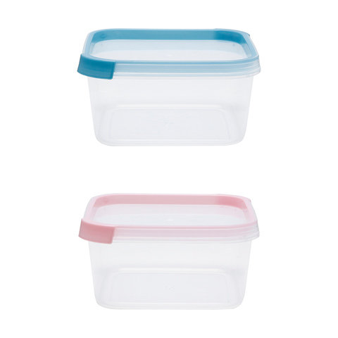 2 Square Containers - 800ml