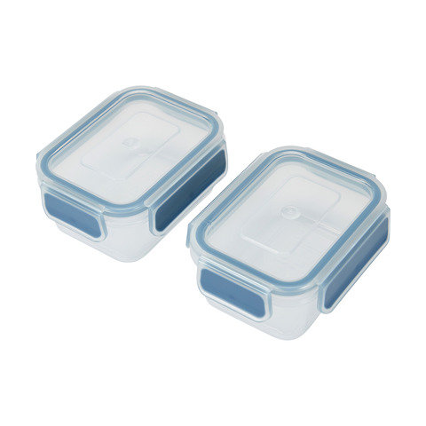 2 Pack 200ml Clip Containers