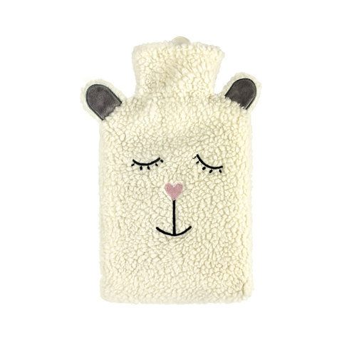 2L Hot Water Bottle with Cover - Sherpa Sheep
