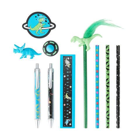 11 Piece Pen & Pencil Stationery Set - Blue