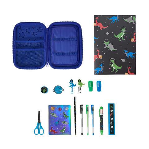 16 Piece Pencil Case - Blue