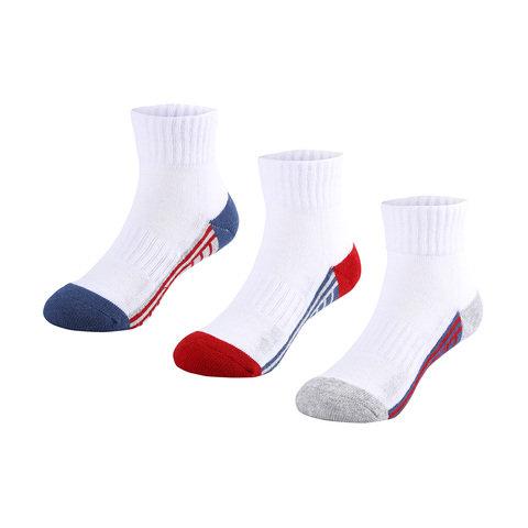 3 Pack Sports Quarter Crew Socks