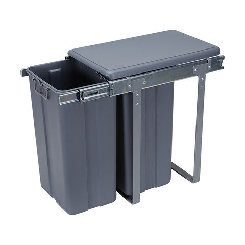 2 Section Under the Sink Pull Out Bin