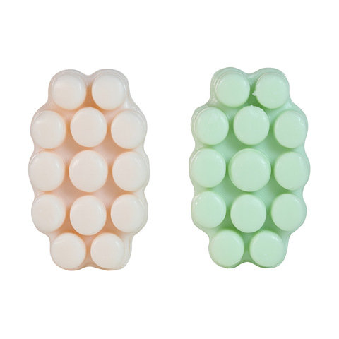2 Pack Massage Soap 200g - Green Clay & Pink Clay