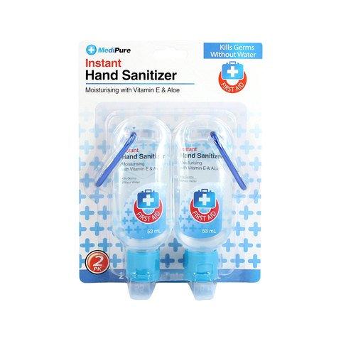 2 Pack MediPure Instant Hand Sanitiser
