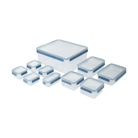 10 Pack Rectangle Clip Containers