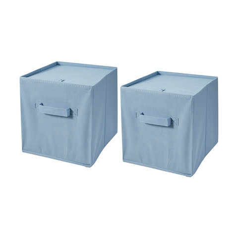 2 Pack Collapsible Storage Cubes - Blue