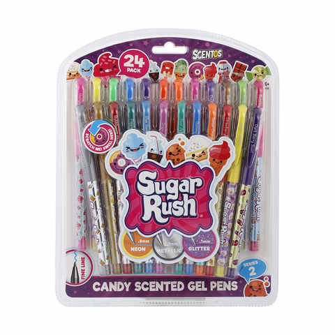24 Pack Scentos Candy Scented Gel Pens