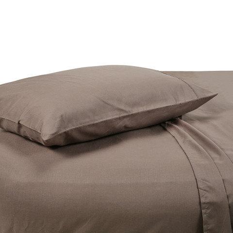 180 Thread Count Sheet Set - King Single Bed, Mocha