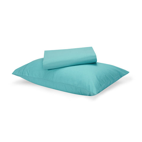 180 Thread Count Sheet Set - King Single Bed, Aqua
