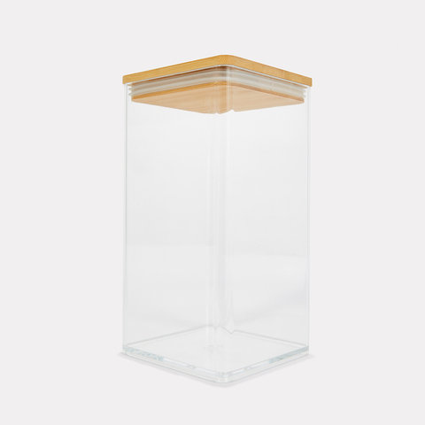 1L Tall Food Container with Bamboo Lid