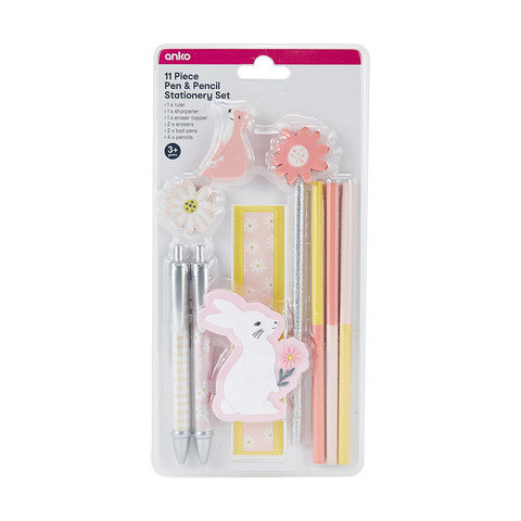 11 Piece Pen and Pencil Stationery Set - Woodland