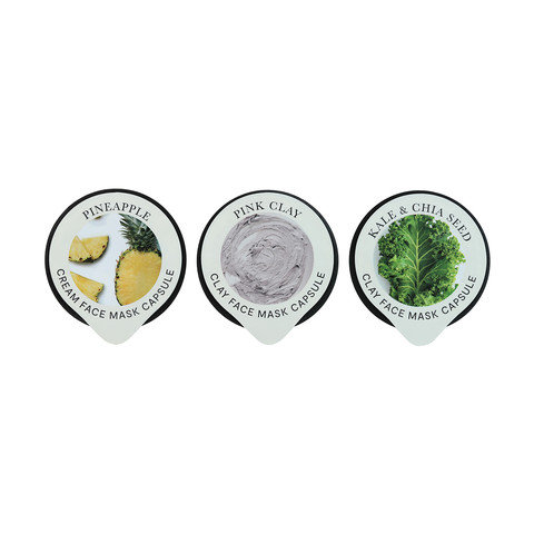 3 Piece Capsule Face Mask Pack