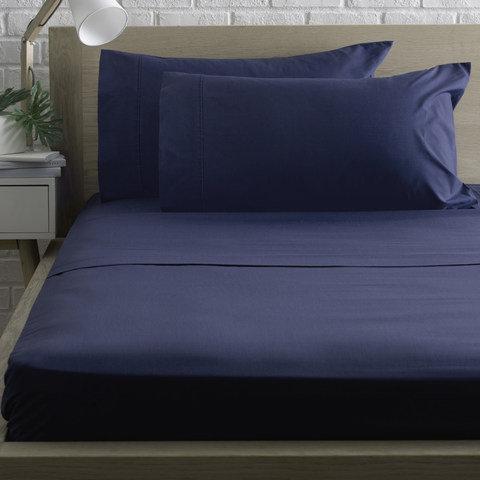 225 Thread Count Sheet Set - Double Bed, Denim