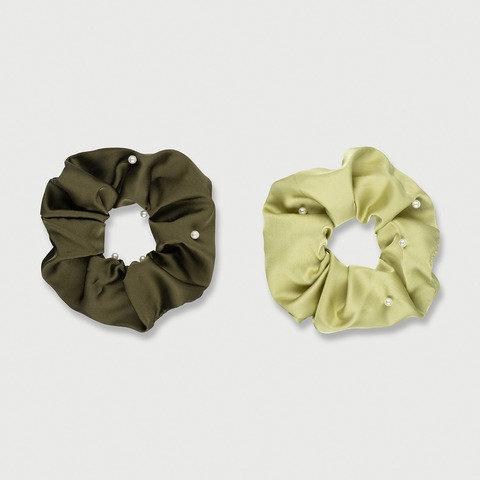 2 Pack Pearl Hair Scrunchies